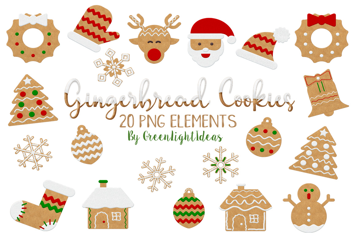 Download Free Christmas Gingerbread Cookies Clipart Graphic By Greenlightideas for Cricut Explore, Silhouette and other cutting machines.