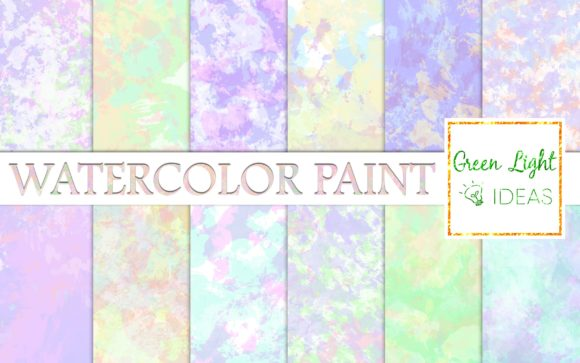 Pastel Watercolor Paint Scrapbook Paper Graphic Backgrounds By GreenLightIdeas