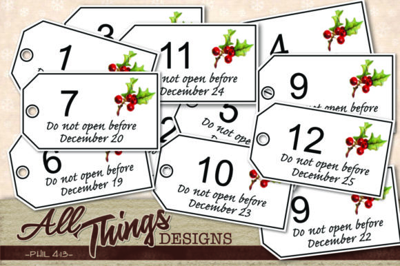 Download Free Christmas Gift Tags Graphic By All Things Designs Creative Fabrica for Cricut Explore, Silhouette and other cutting machines.