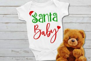 Download Free Santa Baby Graphic By Printsofpop Creative Fabrica for Cricut Explore, Silhouette and other cutting machines.