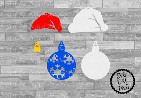 Download Free Santa Hat And Ornament Earrings Svg Graphic By Printsofpop for Cricut Explore, Silhouette and other cutting machines.