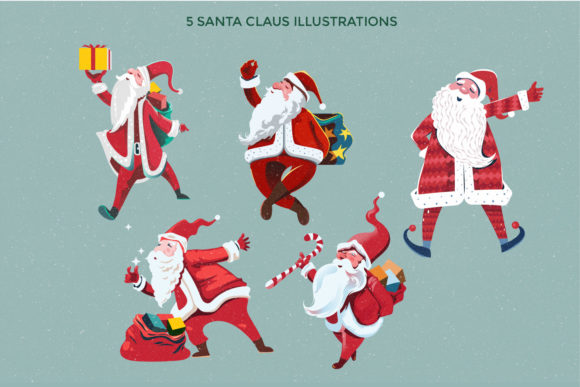 Download Free Santa Claus At Christmas Eve Graphic By Illusatrian Creative for Cricut Explore, Silhouette and other cutting machines.