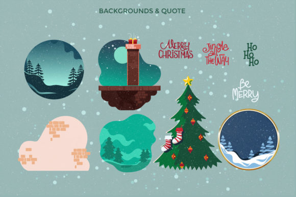 Print on Demand: Santa Claus at Christmas Eve Graphic Illustrations By illusatrian - Image 3