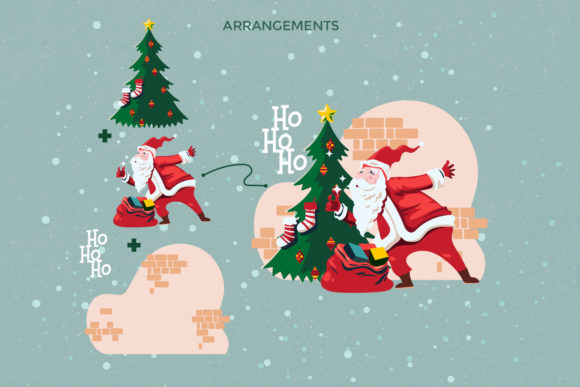 Print on Demand: Santa Claus at Christmas Eve Graphic Illustrations By illusatrian - Image 4