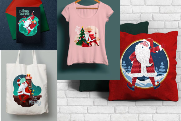 Print on Demand: Santa Claus at Christmas Eve Graphic Illustrations By illusatrian - Image 5