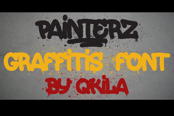 Print on Demand: Painters Blackletter Font By qkila - Image 2