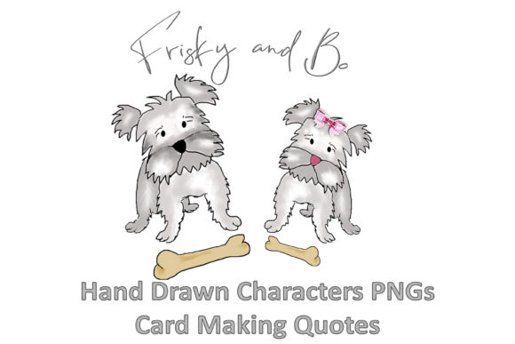 Print on Demand: Friskey and Bo Hand Drawn Clipart Graphic Crafts By The Paper Princess