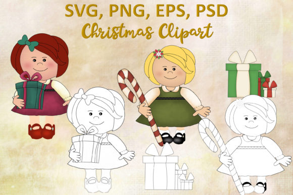 Print on Demand: Christmas Clipart Graphic Illustrations By The Paper Princess