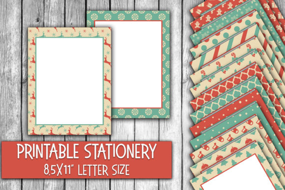 Print on Demand: Winter Wonderland Christmas Stationery Graphic Crafts By oldmarketdesigns