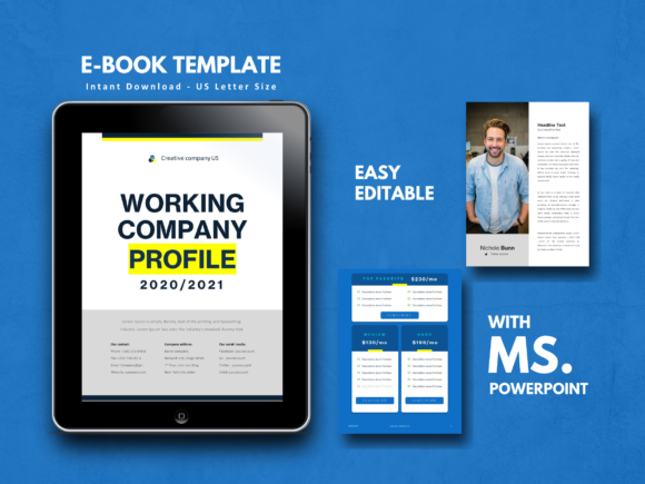 Social Media Marketing Ebook Template Graphic By Rivatxfz