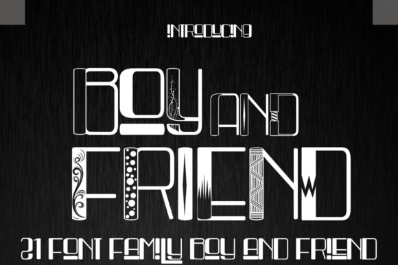Print on Demand: Boy and Friend Display Font By jehansyah251