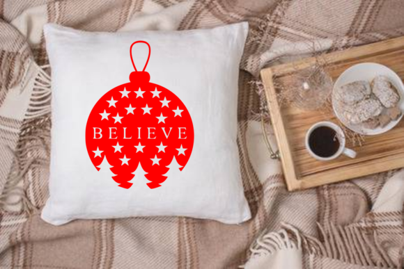 Download Free Christmas Believe Ornament Svg Cut File Graphic By Mockup Venue for Cricut Explore, Silhouette and other cutting machines.