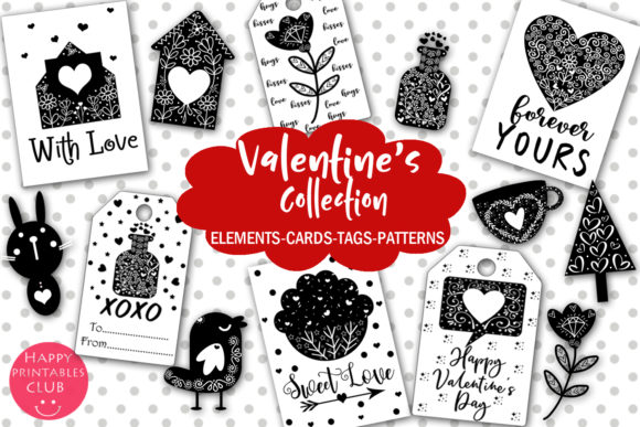 Print on Demand: Cute Valentine's Day Collection Graphic Illustrations By Happy Printables Club