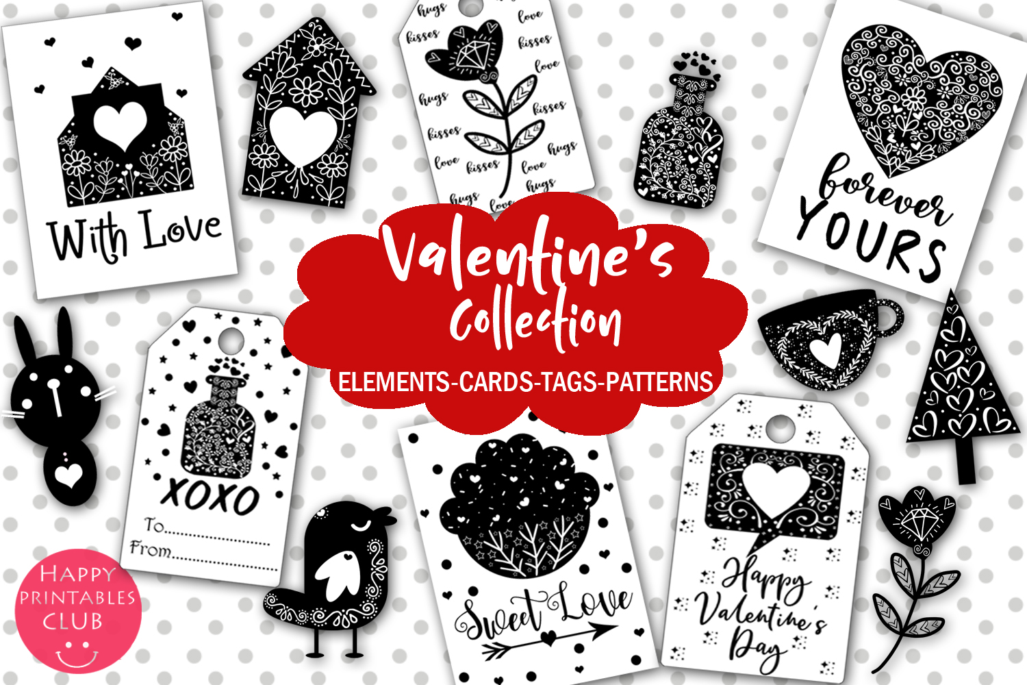 Cute Valentine S Day Collection Graphic By Happy Printables Club
