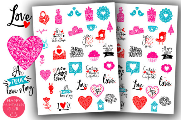 Print on Demand: Valentines Day Planner Stickers- Love Graphic Crafts By Happy Printables Club