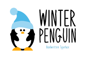 Print on Demand: Winter Penguin Display Font By Instagram Fonts
