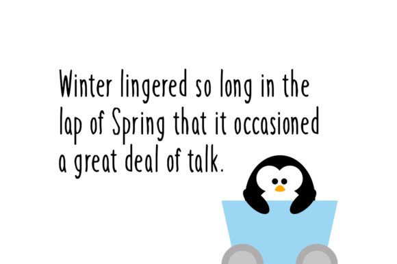 Print on Demand: Winter Penguin Display Font By Instagram Fonts - Image 2