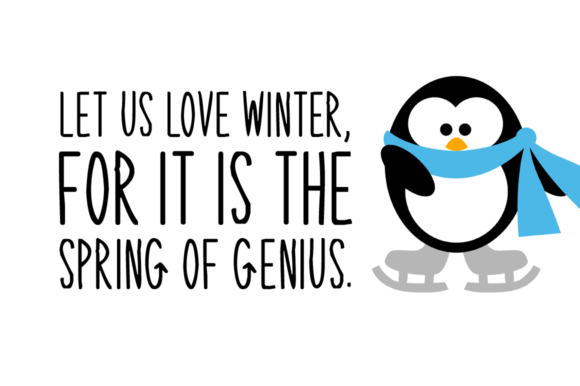 Download Free Winter Penguin Font By Instagram Fonts Creative Fabrica for Cricut Explore, Silhouette and other cutting machines.