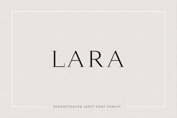 Print on Demand: Lara Serif Font By Cassandra Cappello