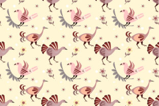 Download Free Indian Style Bird Seamless Pattern Graphic By Ranger262 for Cricut Explore, Silhouette and other cutting machines.