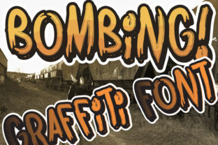 Print on Demand: Bombing Blackletter Font By qkila 2