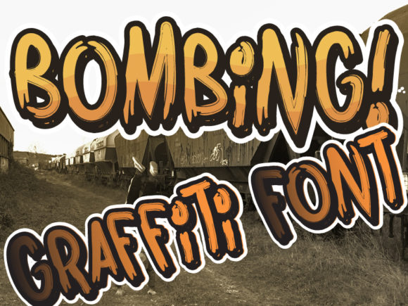 Print on Demand: Bombing Blackletter Font By qkila - Image 2