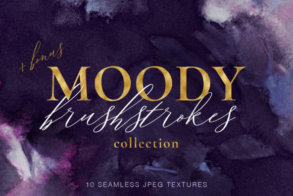 10 Seamless Brushstroke Digital Papers Graphic Textures By CatJello Graphics - Image 1