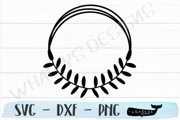 Download Free Circle Wreath With Laurels Graphic By Whaleysdesigns Creative for Cricut Explore, Silhouette and other cutting machines.