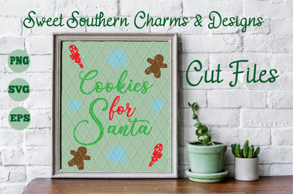 Download Free Cookies For Santa Creative Fabrica for Cricut Explore, Silhouette and other cutting machines.