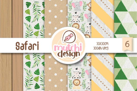 Print on Demand: Safari Digital Papers Graphic Backgrounds By Mutchi Design