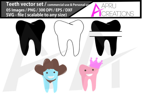 Download Free Teeth Monogram Graphic By Aparnastjp Creative Fabrica for Cricut Explore, Silhouette and other cutting machines.