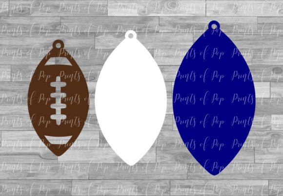 Football Earrings Graphic Download