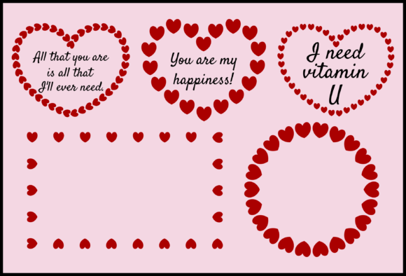 Download Free Heart Frame Graphic By Colorsplash Creative Fabrica for Cricut Explore, Silhouette and other cutting machines.