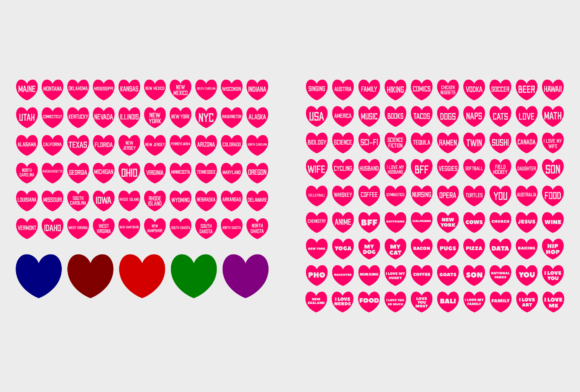 Print on Demand: A Heart with a See-Through Text Graphic Icons By colorsplash