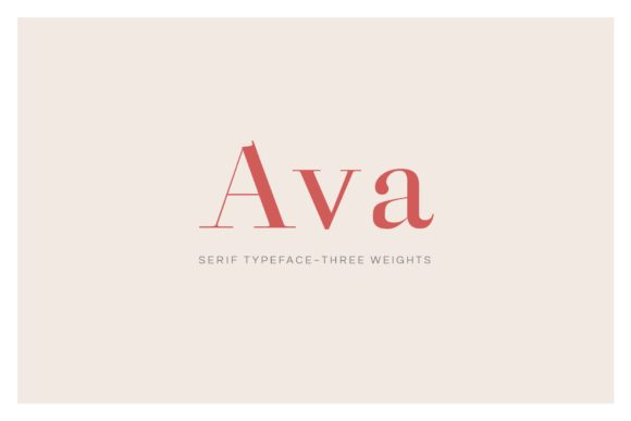 Print on Demand: Ava Serif Font By Cassandra Cappello