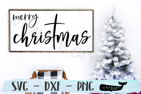 Download Free Merry Christmas Christ Religious Graphic By Whaleysdesigns Creative Fabrica for Cricut Explore, Silhouette and other cutting machines.