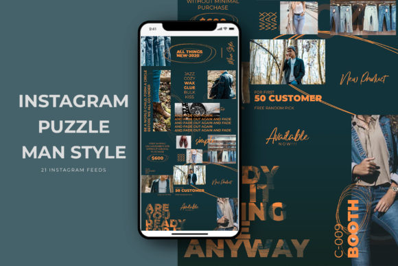 Download Free Instagram Puzzle Man Style Graphic By Qohhaarqhaz Creative Fabrica for Cricut Explore, Silhouette and other cutting machines.