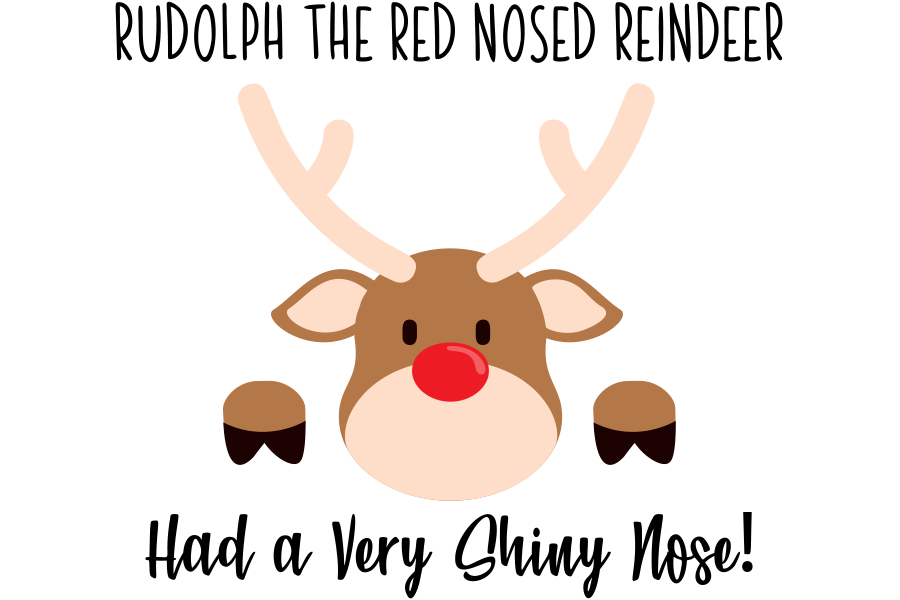 Download Free Rudolph The Red Nosed Reindeer Graphic By Am Digital Designs for Cricut Explore, Silhouette and other cutting machines.