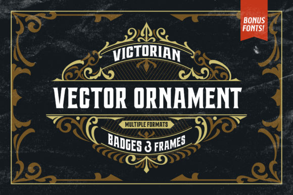 Victorian Ornaments Vector + Bonus Graphic Objects By Arterfak Project