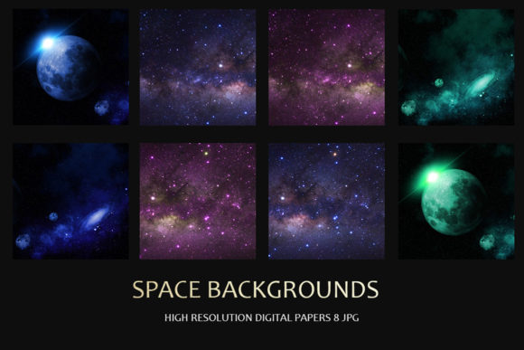 Print on Demand: Space Backgrounds Graphic Textures By DAYDESIGN