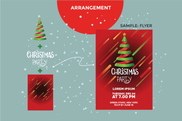 Download Free Christmas Tree Set Graphic By Illusatrian Creative Fabrica for Cricut Explore, Silhouette and other cutting machines.