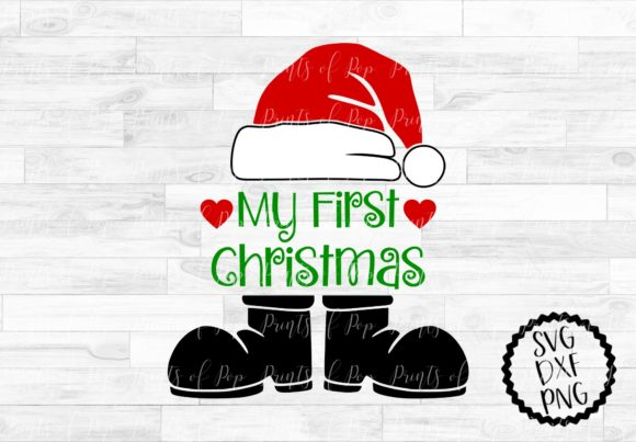 Download Free My First Christmas Santa Claus Svg Graphic By Printsofpop for Cricut Explore, Silhouette and other cutting machines.