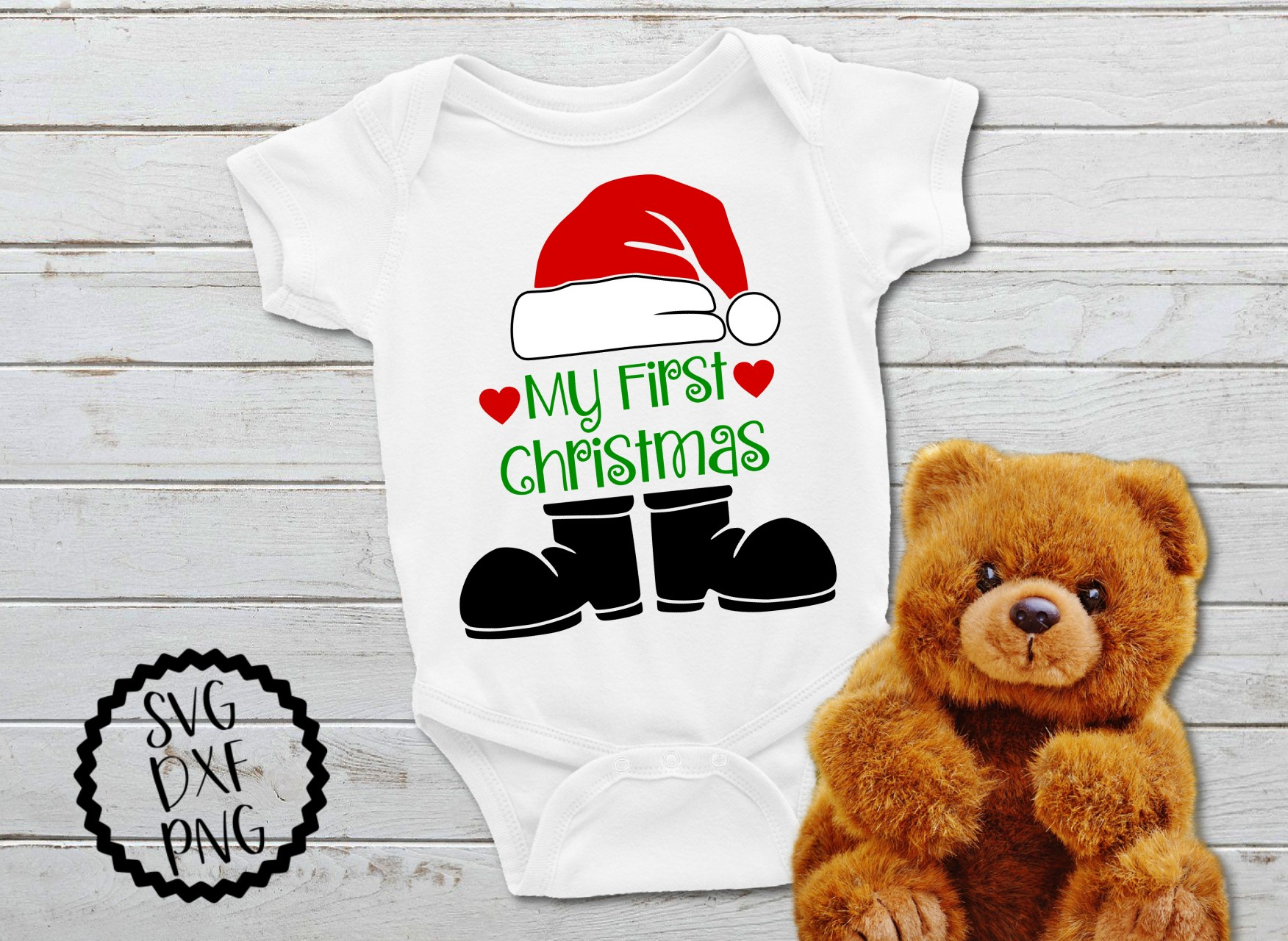 Download Free My First Christmas Santa Claus Svg Graphic By Printsofpop Creative Fabrica for Cricut Explore, Silhouette and other cutting machines.