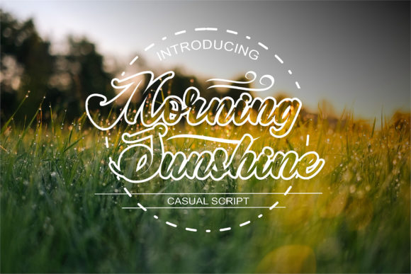 Print on Demand: Morning Sunshine Script & Handwritten Font By fadhil figuree