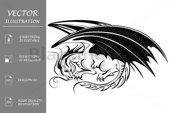 Stylized Dragon Graphic Illustrations By Blackmoon9