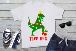 Download Free Tree Rex Christmas Dinosaur Graphic By Printsofpop Creative for Cricut Explore, Silhouette and other cutting machines.