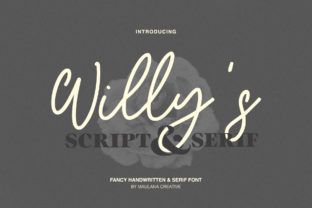 Print on Demand: Willy's Script & Handwritten Font By Maulana Creative