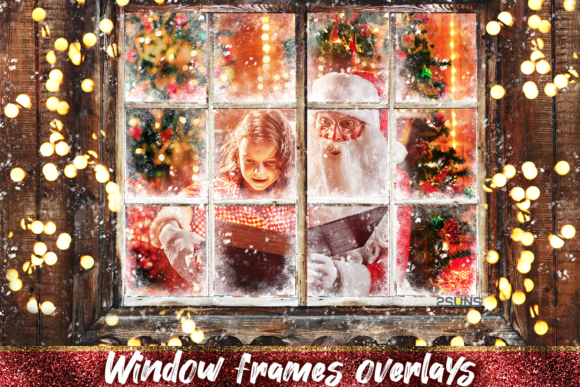 Download Free Window Frames Overlays Christmas Freeze Graphic By 2suns for Cricut Explore, Silhouette and other cutting machines.