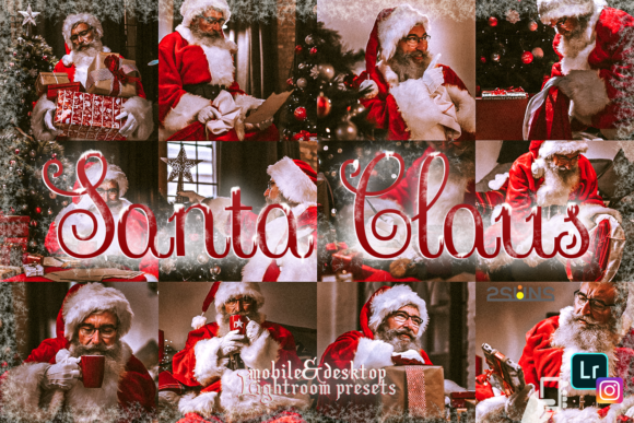 Download Free 5 Santa Claus Lightroom Preset Christmas Graphic By 2suns for Cricut Explore, Silhouette and other cutting machines.
