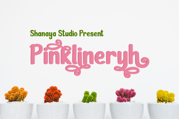 Print on Demand: Pinklineryh Display Fuente Por Shanaya Creative